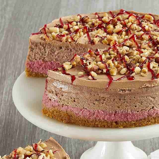 Raspberry Hazelnut Cheesecake