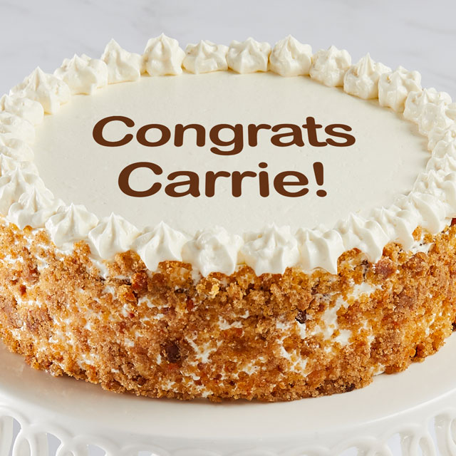 Personalized Carrot Cake