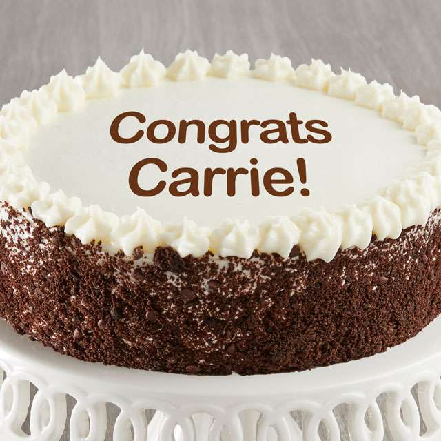 image of Personalized Chocolate and Vanilla Cake