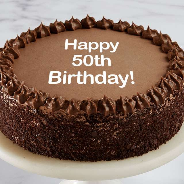 image of Happy 50th Birthday Double Chocolate Cake