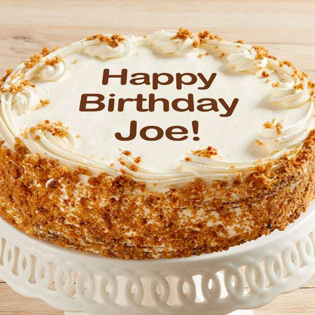 Personalized 10-inch Carrot Cake