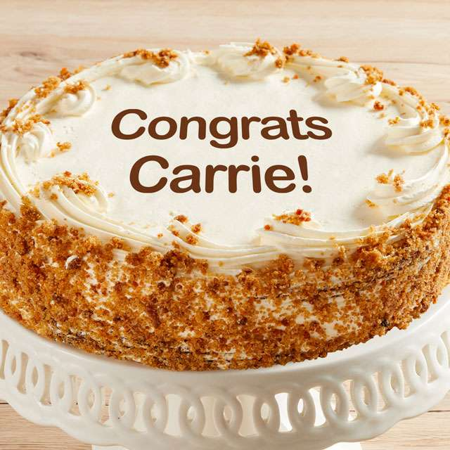 image of Personalized 10-inch Carrot Cake