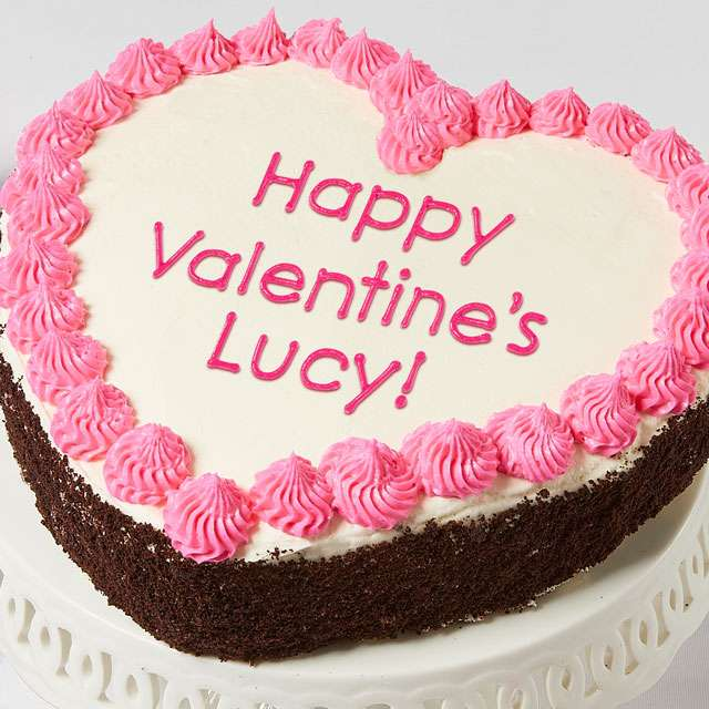 Image of Personalized 10-inch Heart-Shaped Chocolate Cake