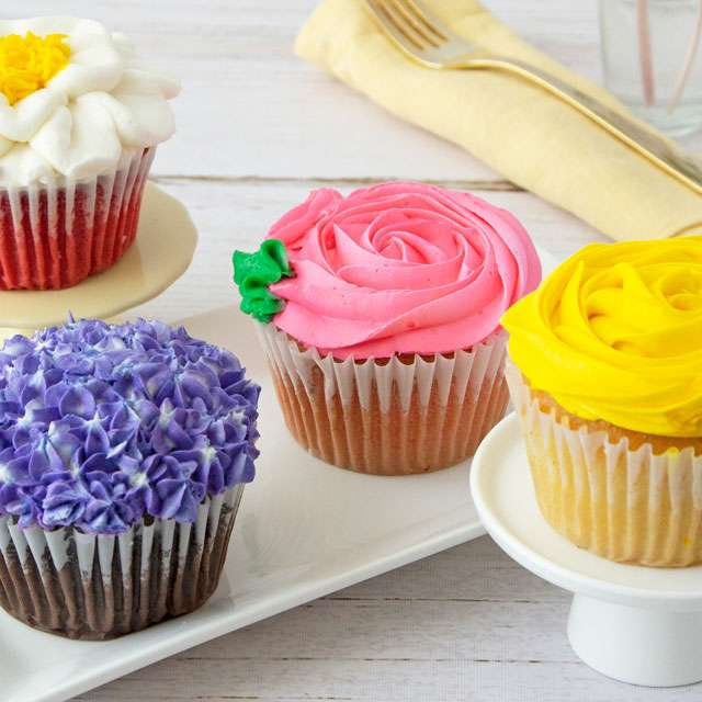 image of JUMBO Flower Cupcakes