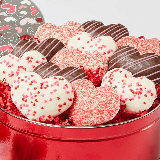 image of Heart-Shaped Cookie Tin