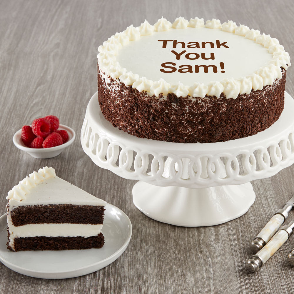 Personalized Chocolate and Vanilla Cake