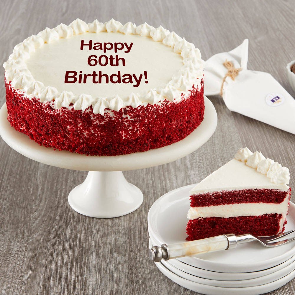 Happy 60th Birthday Red Velvet Cake