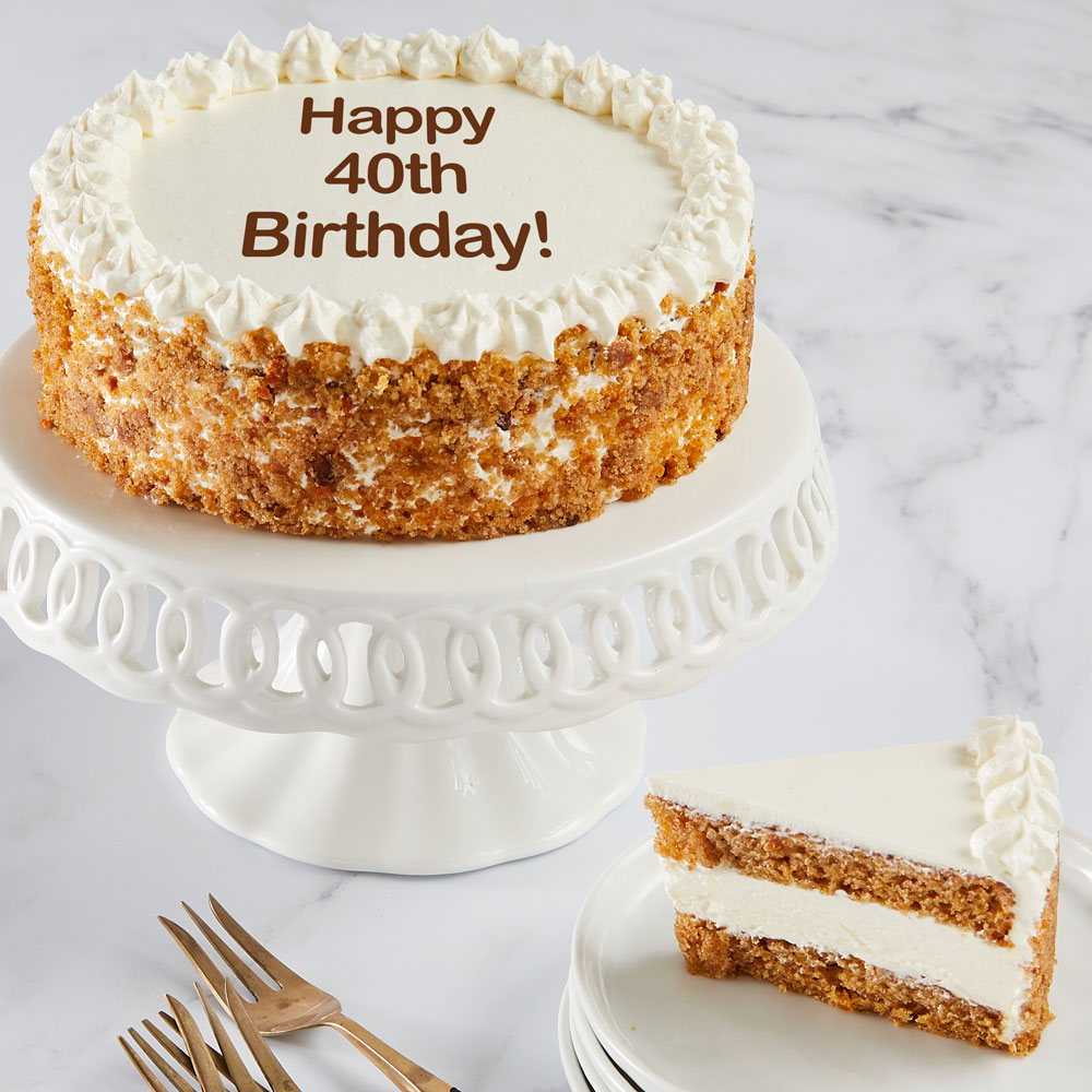 Happy 40th Birthday Carrot Cake