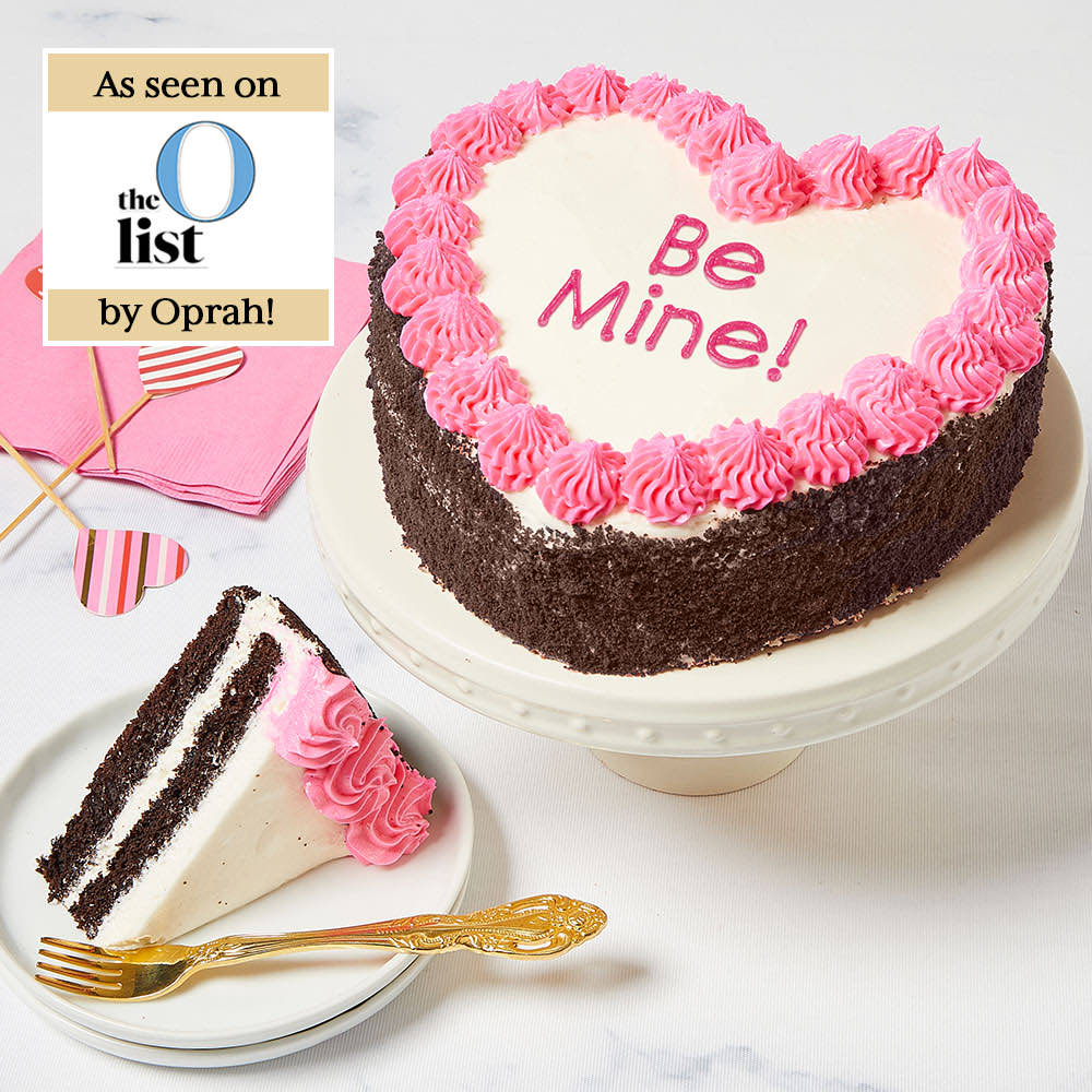 Be Mine! Heart-Shaped Chocolate Cake