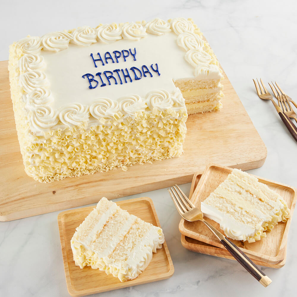COLOSSAL Vanilla Happy Birthday Sheet Cake