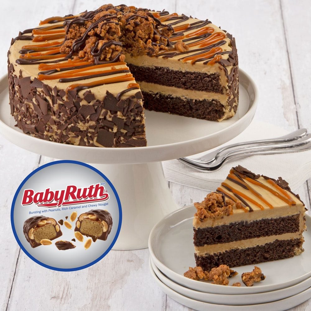 Baby Ruth Candy Cake  full view