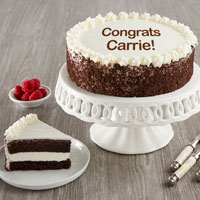 Wide View Image Personalized Chocolate and Vanilla Cake