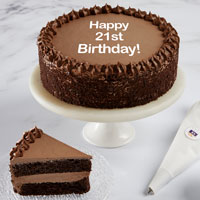 Happy 21st Birthday Double Chocolate Cake Full View Image Selector