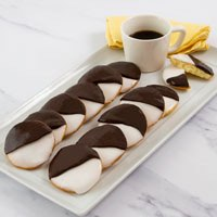 Wide View Image One Dozen Black and White Cookies
