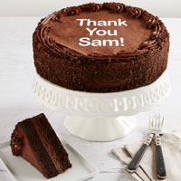 Wide View Image Personalized 10-inch Chocolate Cake