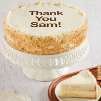 Wide View Image Personalized 10-inch Vanilla Cake