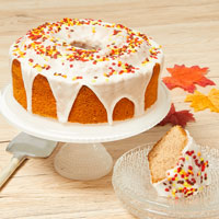 Wide View Image Autumn Harvest Cake