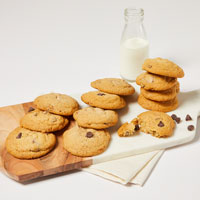 Wide View Image One Dozen Gluten-Free Chocolate Chip Cookies