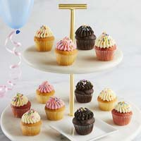 Wide View Image Mini Birthday Cupcakes