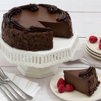 Wide View Image Flourless Chocolate Cake