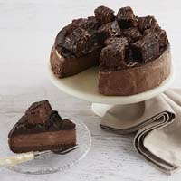 Wide View Image Brownie Cheesecake