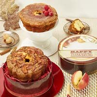 Upsell Product Image Viennese Coffee Cake in Thanksgiving Tin