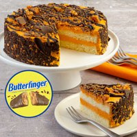 Wide View Image Butterfinger Candy Cake